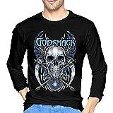 SeanDouglas Man Godsmack Breathable Long Sleeve T Shirts XL Black