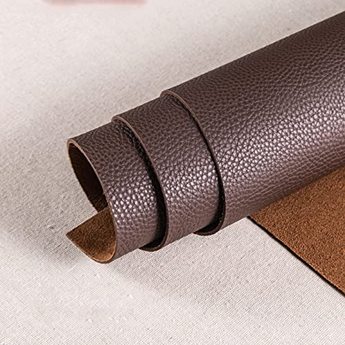 1.8mm x138cm Polipiel Tela De Cuero SintéTico para Tapizar Acolchado Manualidades Cojines O Forrar Objetos por Metros para La DecoracióN Interior del Asiento,darkcoffee
