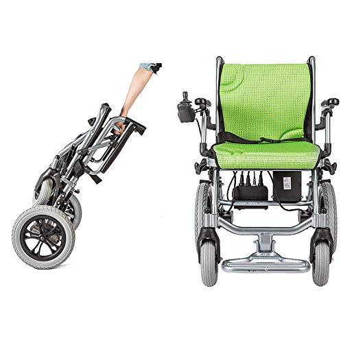 ZZR Elektrisch. Rollstuhl - Leichtester kompakter Elektrorollstuhl-Antrieb mit 10AH 24V Lithiumbatterieleistung auf 12 Meilen, Leichter medizinischer Transportrollstuhl
