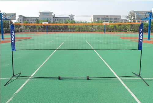 Popamazing faltbares Mini-Badmintonnetz mit Aufstell-Rahmen, 3 Meter, 4 Meter, 5 Meter, Schwarz , 5 m