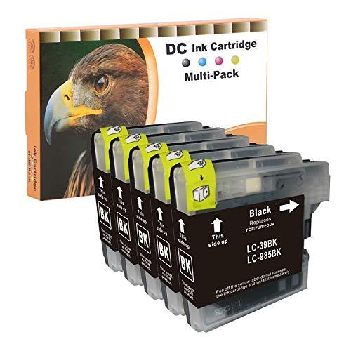 D&C 5x 15ml Cartuchos de tinta negra Compatible para...
