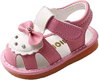 Minetom Chaussures Bébé Filles en PU Cuir Souple Sandales À Fleurs Chaussons Bebe Filles Chaussures Princess Été Premiers ...