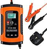 SMALIFE Car Battery Charger, Battery Charger & Maintainer 12V 5A Fully Automatic Car