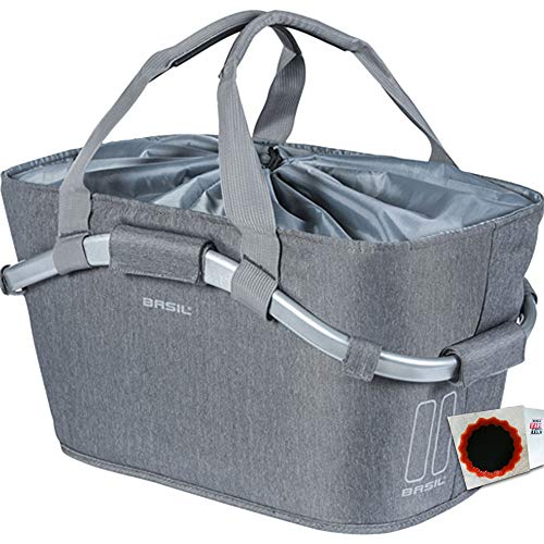 Basil HR Korb Carry All Rear Basket 2DAY MIK Adapterplatte Grey Melee +FL.