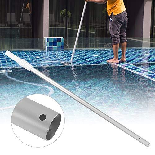 Nivvity Telescopic Pole, Best for Skimmer Vacuum Heads and Brushes, Strong Grip & Lock, Ribbed Finish Swimming Pool Aluminum Alloy Adjustable Telescopic Pole Multi, Aluminium