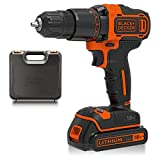 BLACK DECKER 18 V Cordless 2-Gear Combi Hammer Drill Power Tool with Kitbox, 1.5 Ah Lithium-Ion, BCD700S1K-GB