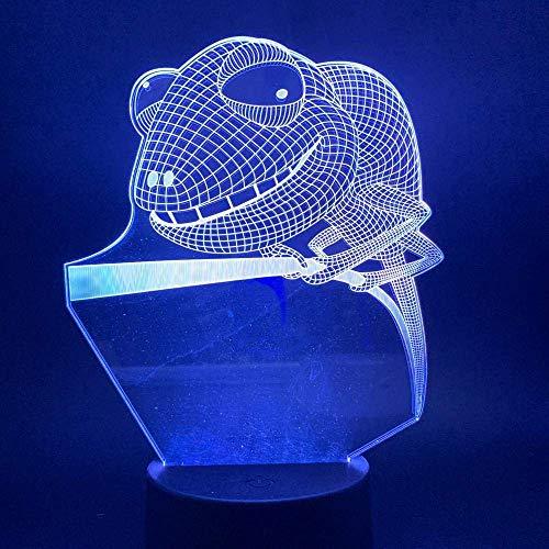 Lámpara De Ilusión 3D Luz De Noche Led Rana De Árbol Para Niños Dormitorio Animal Para Niños Regalo Novetly Lámpara De Mesa Decorativa Los Mejores Regalos De Vacaciones De Cumpleaños Para Niños