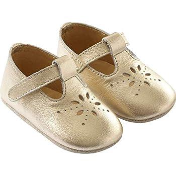Tichoups Chaussures bébé cuir souple Salomé dorée 1617