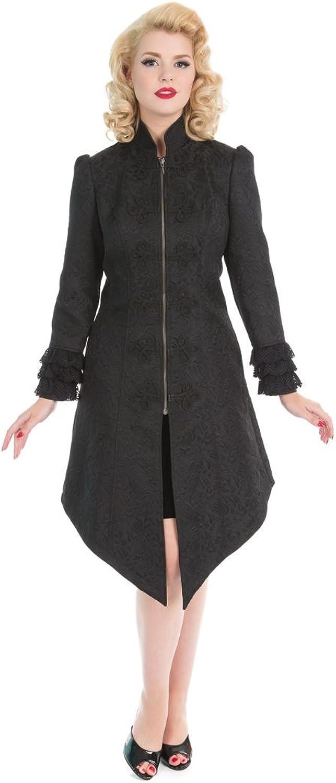 Hearts & pinks Lolita Floral Brocade Gothic Long Coat