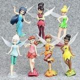 HOU&PR Fée Clochette Princesse Dessin Animé 10 cm 7 pcs, Mini Poupée Action Figure Anime Mini Collection Figurine Jouet Modèle pour Enfants