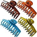 4-Pack FHSVUD Big Hair Claw Clips