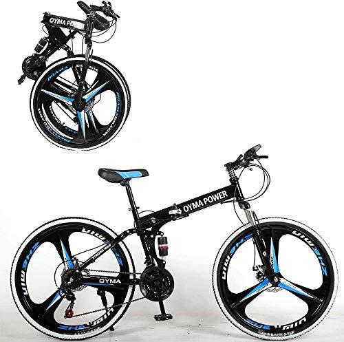 26 Inch Folding Mountain Bike Shimanos Bicycle Dual Disc...