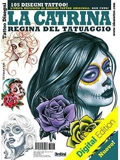 La Catrina Day of The Dead Skull Women 2 Tattoo Flash Design Book 64-Pages