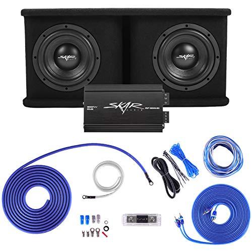 Skar Audio Dual 8' Complete 1,400 Watt SDR Series Subwoofer Bass Package -...