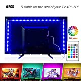 Led Strip Lights 6.56ft for 40-60in TV, PANGTON VILLA USB LED TV Backlight Kit with Remote - 16 Color Changing 5050 LEDs Bias Lighting for HDTV (Renewed)