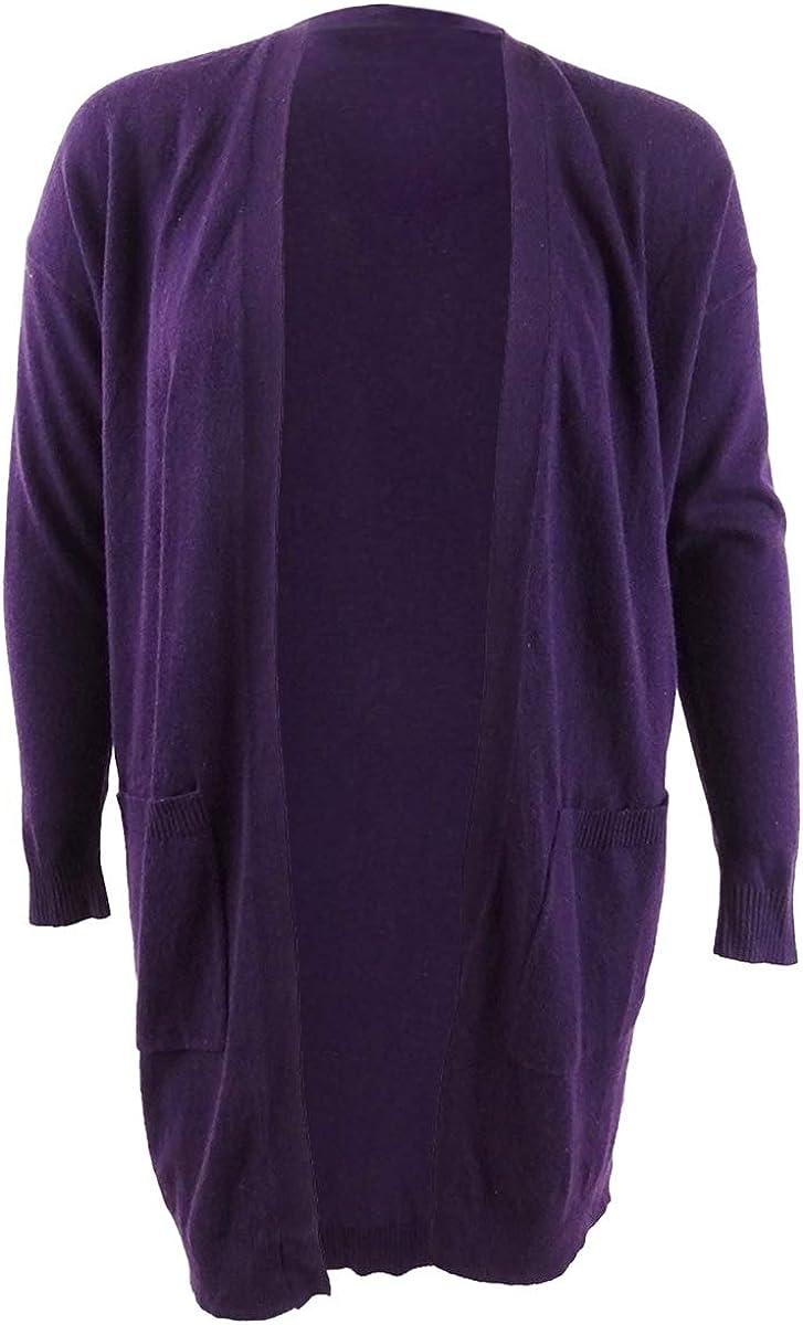Lauren Cheap sale Ralph Women's Wool-Blend Cardigan S M Plum Wine OFFicial store