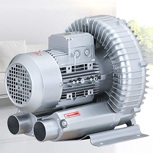HLXB 110V Aquaculture Regenerative Blower Single Phase High-Pressure Industrial Vacuum Pump for Air Blowing Or Suction, Vortex Blower 120W-1100W
