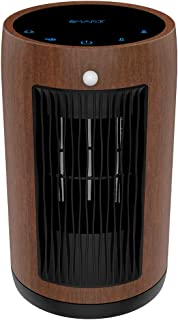 XBUTY Ceramic Space Heater - 1500W Portable Heater with Multi-protection and 3500R/M High-speed Fan, 3 Settings, PA66, 90° Oscillation, Smart PIR, ETL Listed,for Home and Office, 2-Year Warranty,Brown