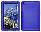 Bobj Silikon-Hulle Heavy Duty Tasche fur ASUS MeMO Pad 8 Tablette (ME181C, ME181CX, K011, MG8, MG181C, MG181CX) & ASUS VivoTab 8 (M81C, K01G) - BobjGear Schutzhulle (Blau)