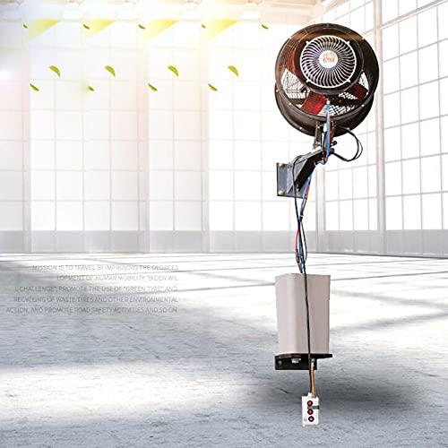 FUFU Climatizadores evaporativos 4 en 1 Ventilador de Mist Mist, 110V Montaje en la pared al aire libre Patio Oscilating Patio Ventilador de niebla para patio, riego, jardín, hogar, césped, invernader