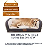 EMME Orthopedic Dog Beds 27/36/44/50 inches for Small, Medium and Large Dogs & Cats Removable Cover Dog Sofa Bed Ultra Plush Deluxe Dog Couch Pet Bed (Grey, X-Large)