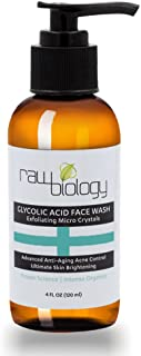 Face Wash GLYCOLIC ACID exfoliating pore cleanser, skin brightener and wrinkle control.
