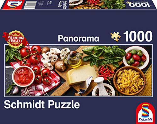 Schmidt Spiele Puzzle 58374 Italienische Küche, 1000 Teile Panorama - Puzzle, bunt