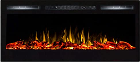 """Regal Flame Lexington 35"""" Log Built in Wall Ventless Heater Recessed Wall Mounted Electric Fireplace Better than Wood Fireplaces, Gas Logs, Inserts, Log Sets, Gas Fireplaces, Space Heaters"""