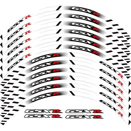 JINQIANSHANGMAO Pegatinas Equipo de Carreras de Motocicleta Accesorios Accesorios Rueda Neumático Rim Decoración Adhesivo Reflexivo Pegatina (Color : 260005)