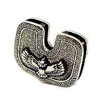 good vibrations グッドバイブレーションズ OLD POINT オールドポイント キーカバー 真鍮製 キーヘッドカバー ネイティブ インディアン 大鷲 イーグル ブラスキーキャップ メンズ キーケース