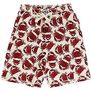 Lazy One Pajama Shorts for Men, Men's Separate Bottoms, Cotton Loungewear, Seafood, Ocean, Crustacean, Animal (Crabs, X-Large)