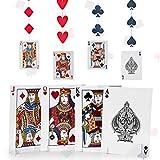 Set de Decoración de Las Vegas, Incluye 8 Decoración de Naipes de Centro de Mesa de Noche de Carta...