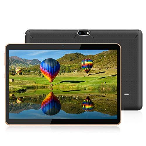 Tableta Android 9.0 de 10 Pulgadas con procesador WiFi,  navegación Bluetooth 4 GB de RAM 64 GB La Memoria Dual SIM de 5 GHz también es un teléfono móvil