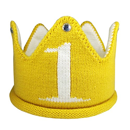 Best Prices! Lujuny Knit 1st Birthday Hat - Soft Baby Crown Headband Cap for Party Costume Photoshoo...