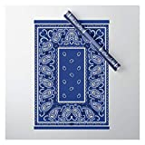 Society6 Classic Royal Blue Bandana by The Bandana Blanket Company on Gift Wrapping Paper - Pack of 5