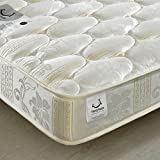 Quilted Open Coil Spring, Happy Beds Star Medium Soft Tension Mattress - 5ft UK King (150 x 200 cm)