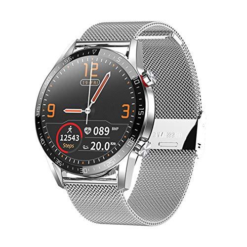 KBC L13 Bluetooth Call Smart Watch Human ECG Ritmo Cardíaco Presión Arterial Monitor IP68 Impermeable Fitness Pulsera Deportiva para Android iOS,A