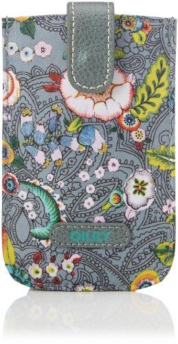 Oilily French Flowers Smartphone Pull Hülle Grey OCB3232-604, Damen Ausweis- und Kartenhüllen, Grau (grey 604), 14x9x3 cm (B x H x T)