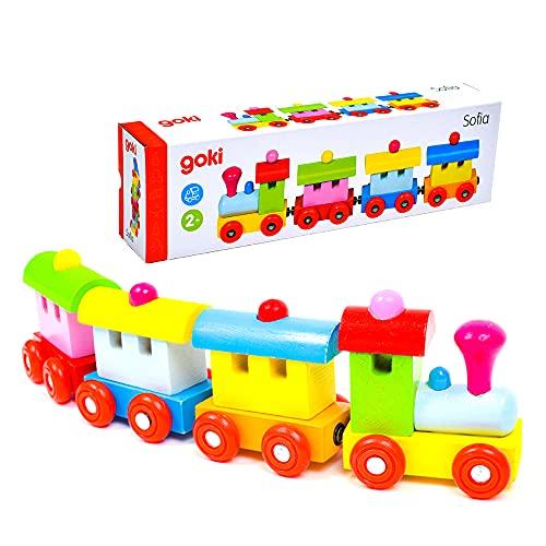 汽車 電車 木製 知育玩具 おもちゃ 2歳 マグネット Gollnest&Kiesel ゴルネスト&キーゼル マグネティックトレイン ソフィア (G55978)