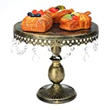 Kuingbhn Soporte para pastel de postre 3 unids/set cristal pastel soporte exhibición estante magdalenas postre torre decoración de la boda para té de la tarde fiesta de cumpleaños