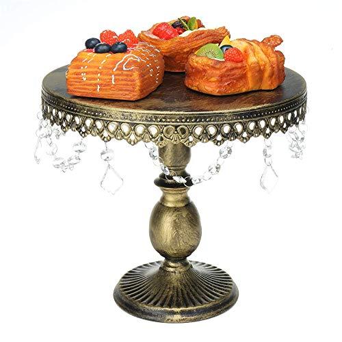 Lshbwsoif Soporte para pastel de postre 3 unids/set de cristal de la torta soporte exhibición estante de la magdalena postre torre decoración de la boda para aniversario fiesta de cumpleaños