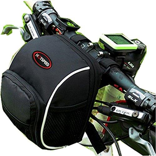 XY Hi8 Store Fahrradtasche mit Regenschutz, zur Befestigung an der Lenkstange, wasserdicht, Schwarz