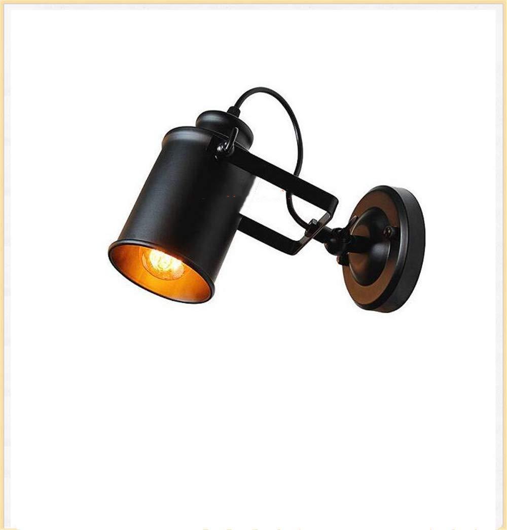 American Retro Country Loft Stil Lampen Industrie Vintage Eisen Wandleuchte f/ür Bar Cafe Home Beleuchtung LED Wandleuchte