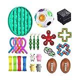 Not application 24 unids Sensory Fidget Juguetes Descompresión Juguete Kit de Mano de Dedo Set Adecuado para Niños y Adultos