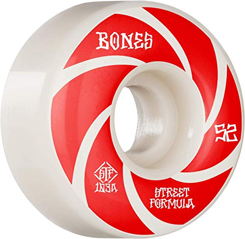 Bones Wheels Skateboardrollen STF Patterns V1 Standard 103A (White) 53mm