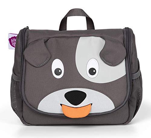 Affenzahn Kulturtasche Hund für 1-3 Jährige Kinder 17 x 20 x 7 cm - Grau