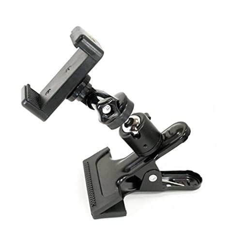 Livestream® Ball Head Clamping Phone Mount System: Includes Metal Clamp, Tripod Adapter,