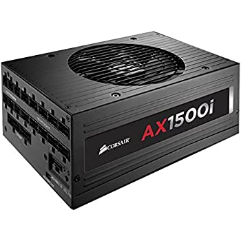CORSAIR AXi Series, AX1500i, 1500 Watt, 80+ Titanium Certified, Fully Modular - Digital Power Supply