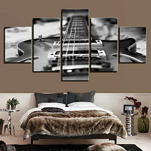 HJIAPO Guitarra Eléctrica Monocromática 5 Cuadros En...