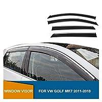 ドアバイザー ゴルフのためのMk7 2014年2015年2016年2017年2018年のためのVWのためのサイドウインドウの偏向器の煙窓のバイザーの日曜日の雨の偏向器のガード ウインドウ バイザー